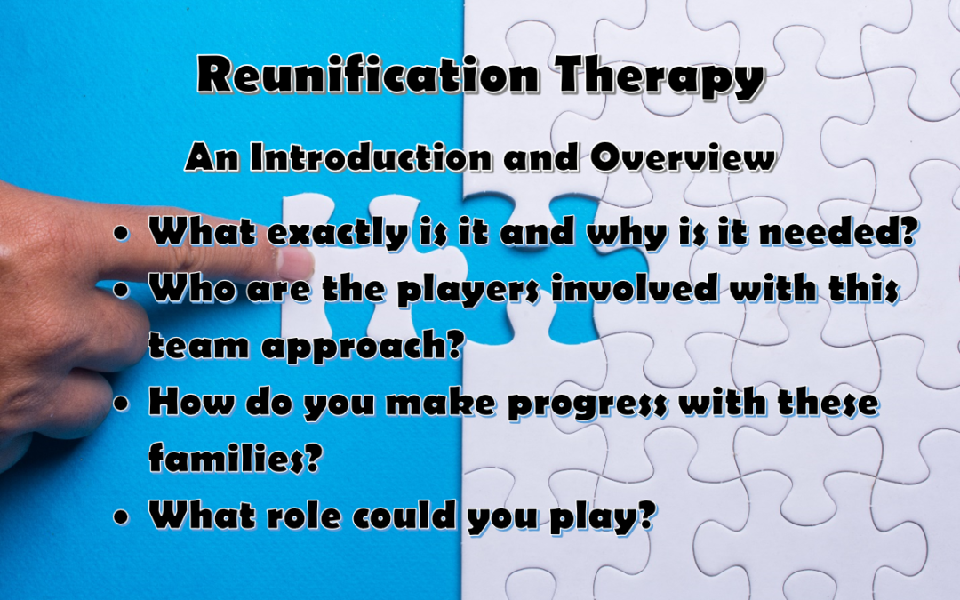 Reunification Therapy Training Event – Save the Date!
