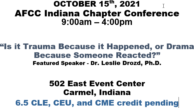 AFCC Indiana Chapter Conference Details
