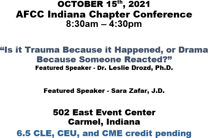 2021 Indiana AFCC Conference Flyer